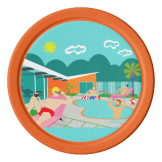 Retro Gay Pool Party Poker Chip