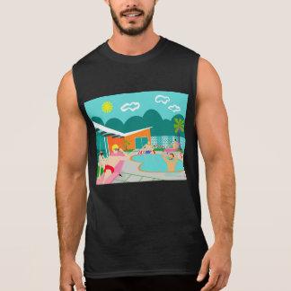 Retro Gay Pool Party Sleeveless T-Shirt