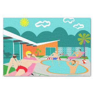 Retro Gay Pool Party Tissue Paper