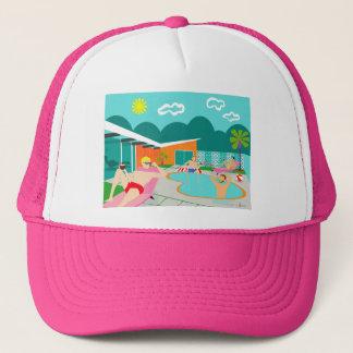 Retro Gay Pool Party Trucker Hat