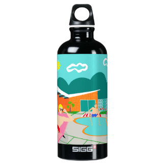 Retro Gay Pool Party Water Bottle