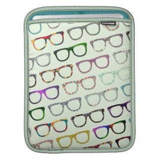 Retro Geek Hipster Glasses Pattern iPad sleeve