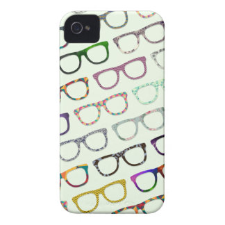 Retro Geek Hipster Glasses Pattern iPhone4S case