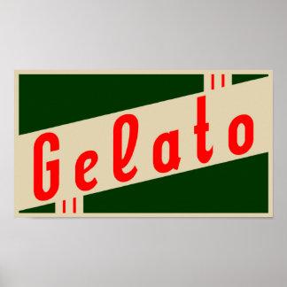 rétro gelato italien poster