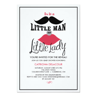 Retro Gender Reveal Baby Shower Invitation