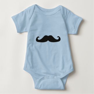 Retro gentelman mustaches illustration baby bodysuit