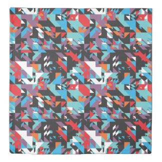Retro Geometric Abstract Duvet Cover