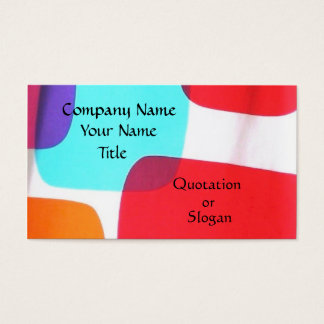 Retro Geometric Business Card