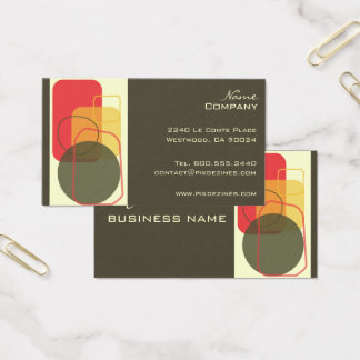 Retro Geometric Design/DIY background color! Business Card