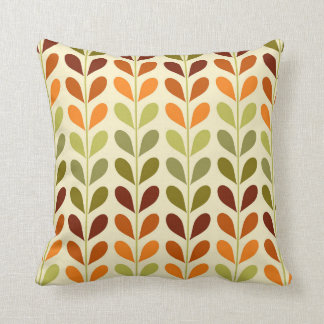 Retro geometric leaves pillow