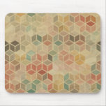 Retro geometric pattern 5 mousepad