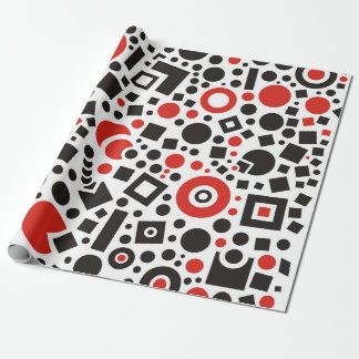 Retro Geometric Pattern Abstract Shapes Wrapping Paper