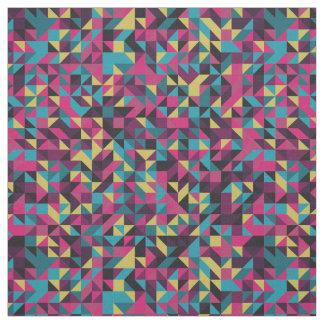 Retro Geometric Pinwheel Pattern Fabric
