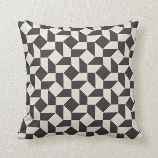 Retro Geometric Shapes Pattern Pillow