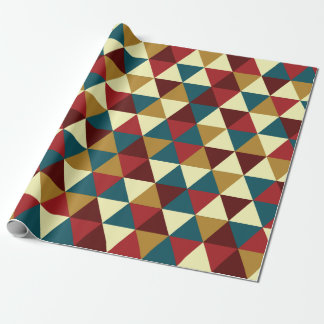 Retro geometric triangle pattern wrapping paper