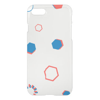 Retro Geometry Clear Illustration Cell Phone Case