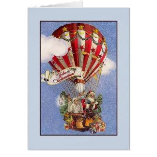 Retro German Frohe Weihnachten Christmas Card