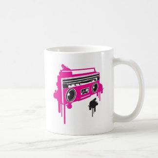 retro ghetto blaster stereo design classic white coffee mug