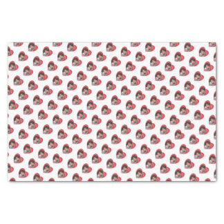 Retro Girl Valentines Hearts Tissue Paper