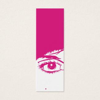 Retro Girls Face in Silhouette Bookmark Mini Business Card