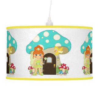 Retro Girly Mushroom Fairy Faeries Ceiling Lamp