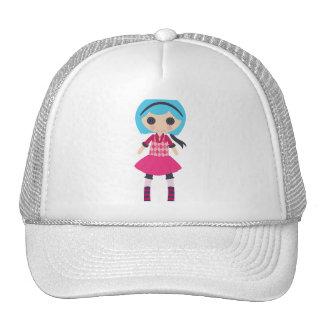 Retro Girly Rag Doll Hats