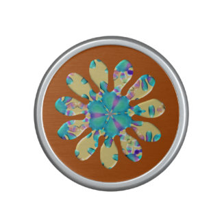 Retro Glam Daisy Flower Turquoise Opalescent Glow Speaker