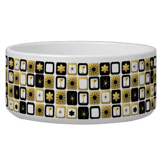 Retro Glamorous Gold Ceramic Pet Bowl