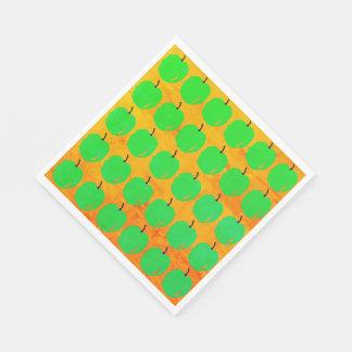 RETRO-GLOW-GREEN-APPLE'S--NAPKIN-DECOR DISPOSABLE NAPKINS