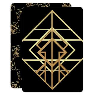Retro Gold & Black Business Card