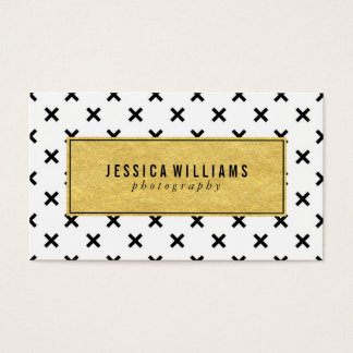 Retro Gold Foil Business Cards