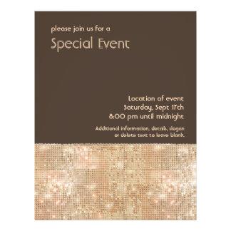 Retro Gold Sequins Party Flyer