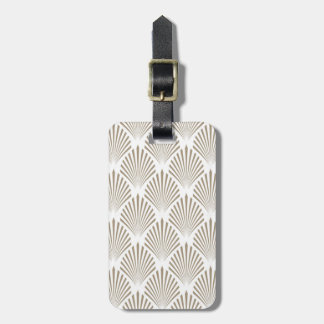 Retro Gold Shell Pattern Luggage Tag