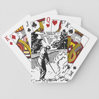 Retro Golfer Sand Trap Playing Cards