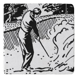 Retro Golfer Sand Trap Trivet
