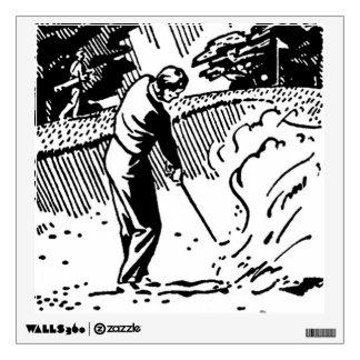 Retro Golfer Sand Trap Wall Decal