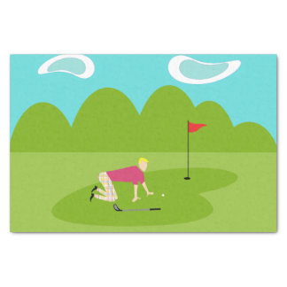 Retro Golfer Tissue Paper