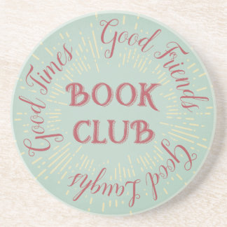 Retro Good Time, Good Friends and Good Laughs Book Beverage Coaster