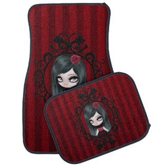 Retro Goth Gothic Doll Car Mat