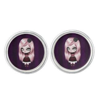 Retro Goth Gothic Doll Cufflinks