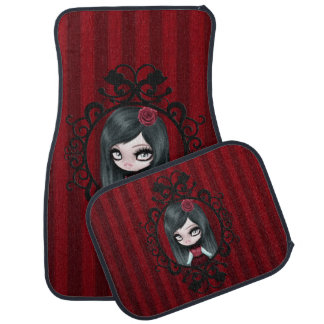 Retro Goth Gothic Doll Floor Mat