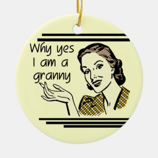 Retro Granny T-shirts and Gifts Ceramic Ornament