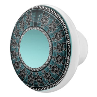 Retro Greek Disc Ceramic Knob