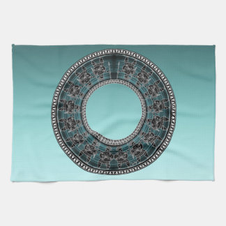 Retro Greek Disc Kitchen Towel