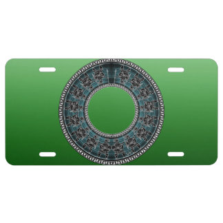 Retro Greek Disc License Plate