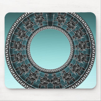 Retro Greek Disc Mouse Pad