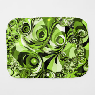 Retro Green Abstract Burp Cloth