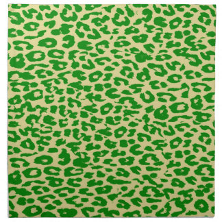 Retro green animal print skin texture of leopard napkin