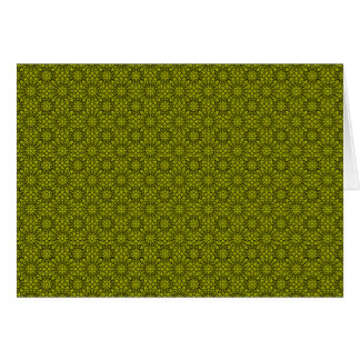 Retro Green Flowers Notecard