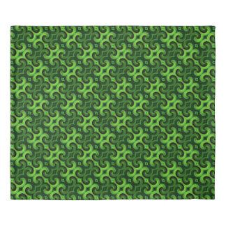 Retro Green King Size Duvet Cover